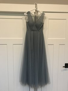 Jenny Yoo Mayan Blue Soft Tulle Emelie - Formal Bridesmaid/Mob Dress Size 4 (S)