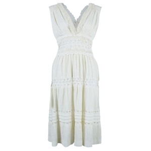 Cream Maxi Dress by Chloé Embroidered Sleeveless