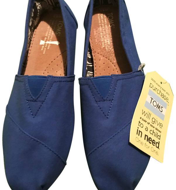 Item - Blue Flats Size US 8.5 Wide (C, D)