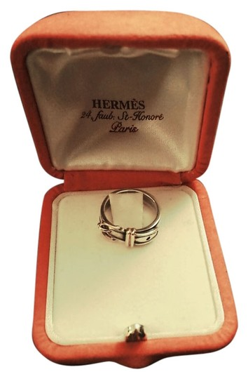 Hermès Hermes 18K Gold And Silver Belt Ring, US 5