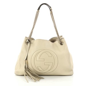 Gucci Soho Chain Strap Shoulder Satchel in off-white