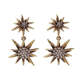 Rebecca Minkoff Gold & Pave Crystal Star Drop Earrings