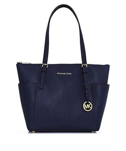 Michael Kors Mk Leather 190049646021 Tote in Navy