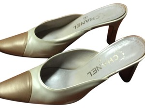 Chanel gold tips Mules