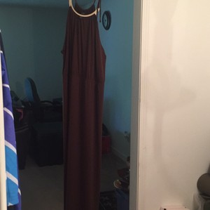 brown Maxi Dress by T.J.Maxx