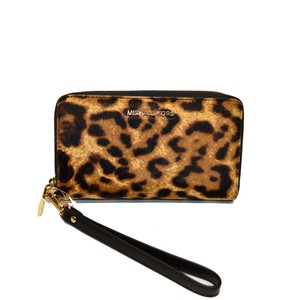 Michael Kors Lg Real Fur Phone Wristlet Wallet
