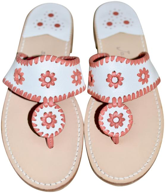 Item - Coral and White Box New In Hamptons Iconic Jackie K Fave Sandals Size US 9 Regular (M, B)