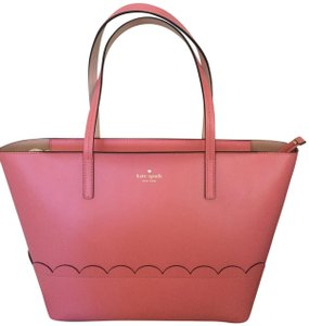 Kate Spade Leather Tote in YUCCA PINK/DOLCE