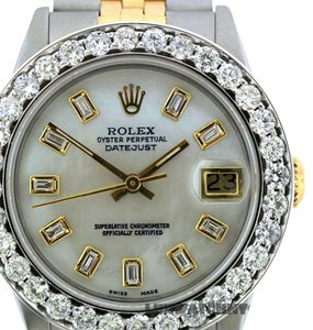 Rolex 2.4CT 31MM ROLEX DATEJUST GOLD S/S WATCH WITH BOX & APPRAISAL