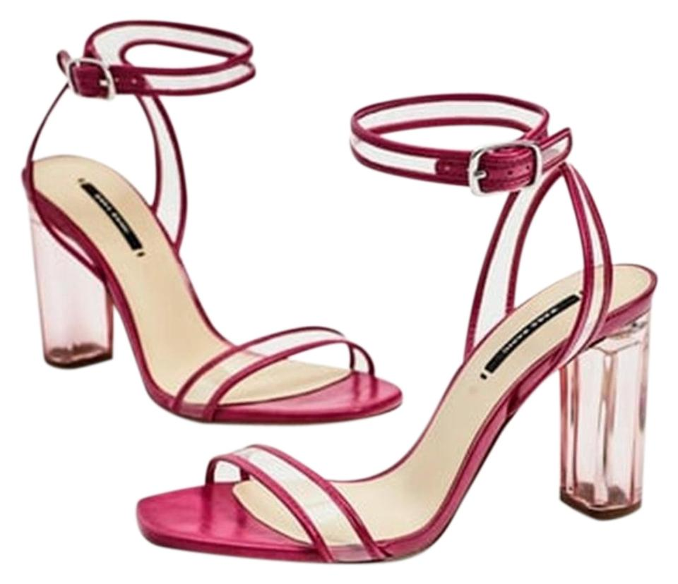 854d44052d6 Zara Fuchsia (Pink) Vinyl High Heel New Sandals Size US 7.5 Regular ...