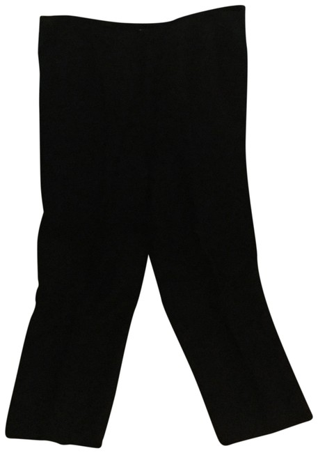 Item - Black Linen Mix Lined Pants Capris Size 6 (S, 28)