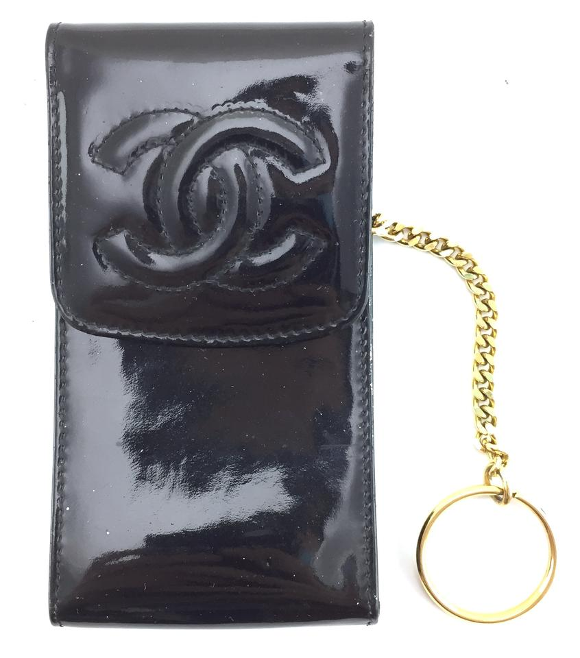 ee30057ac799 Chanel Rare CC Logo patent leather wallet Card Coin Change Key holder flap  Image 0 ...