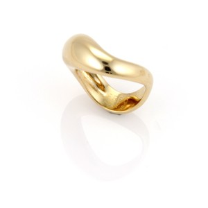 FRED Wave Dome Design 18k Gold Band Ring