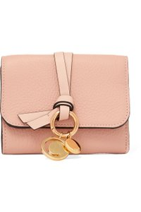 Chloé CHLOÉ Embellished textured-leather wallet