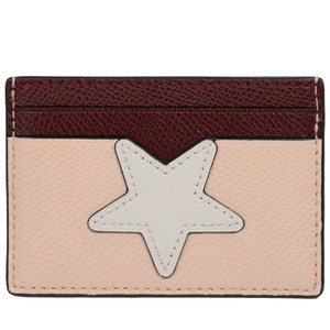 Coach Coach Card Case Holder Star Leather Credit Card Case