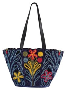 Ego Tote in navy blue/red/black