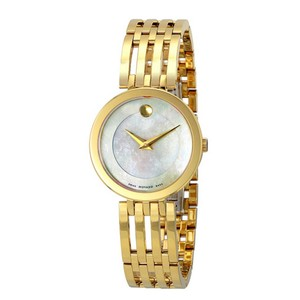 Movado Esperanza Gold Tone Mother of Pearl Dial Ladies Dress Watch Style