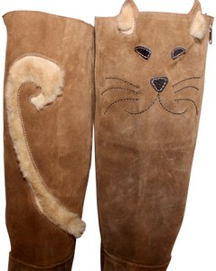 Camper Cat Leather Suede Animal Rare Brown Boots