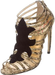 Walter Steiger black and gold Sandals