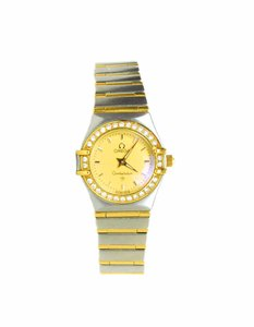 Omega Omega Stainless Steel, 18K Gold & Diamond Constellation Watch