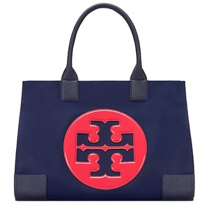 Tory Burch Shopper Tb Logo Ella Tote in Royal Navy