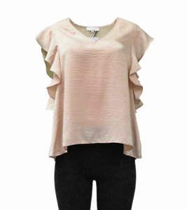 Waverly Grey Top Dusty Rose