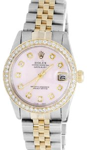 Rolex Ladies Datejust Two Tone 68273 18k/ Steel 31MM Diamond 2.0 Ct