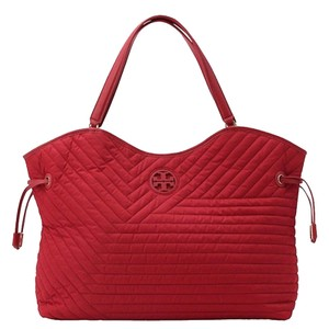 Tory Burch Tote Quilted Marion Baby Satchel in Kir Royal