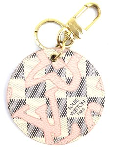 Louis Vuitton Rare Illustre Tahitienne Bag Charm Key Holder Damier Azur
