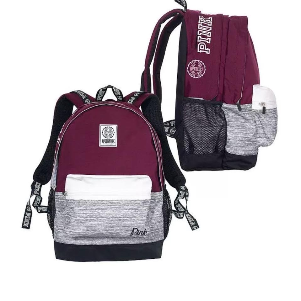 459ddeead7 PINK Victoria s Secret Campus Burgundy Backpack - Tradesy