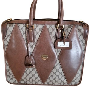 Gucci Gg Monogram Leather Business Laptop Bag