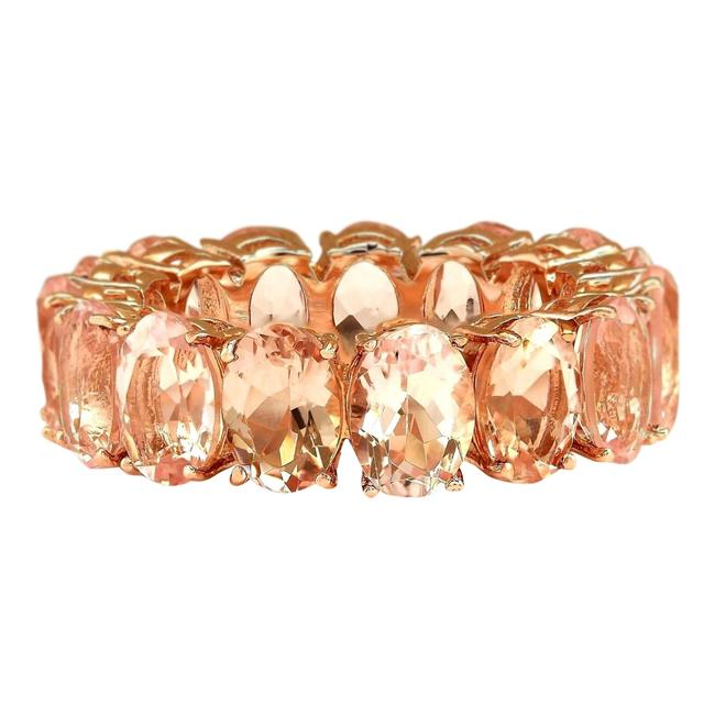 Item - Peach 11.10 Ctw Natural Morganite In 14k Rose Gold Ring