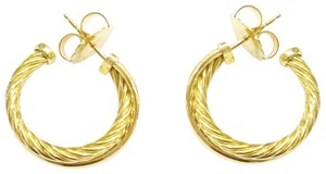 David Yurman David Yurman 18k Crossover Hoop Earrings