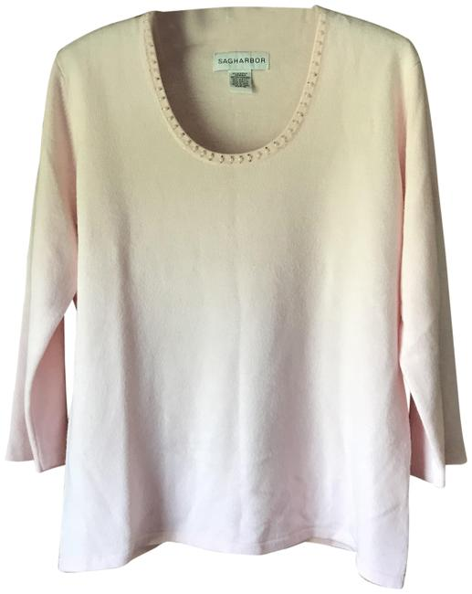 Item - Faux Pearls and Crystals Pink Sweater