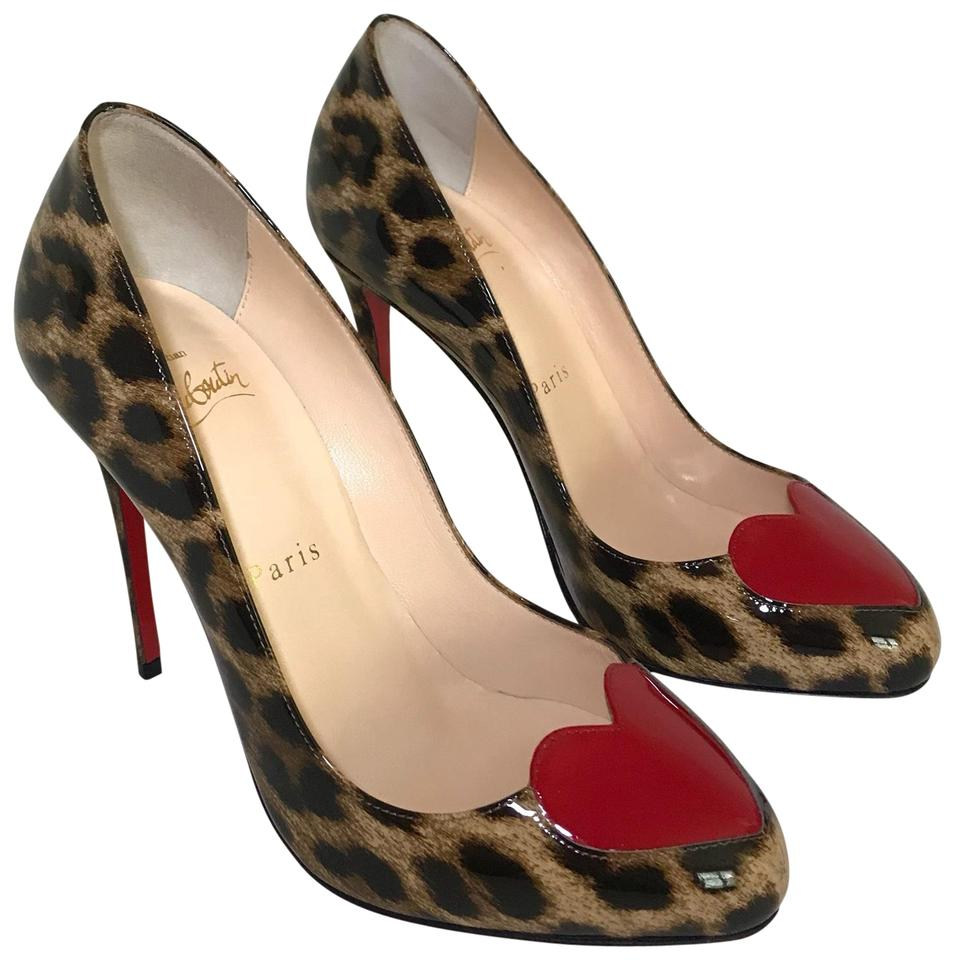 568898609a3b Christian Louboutin Party Patent Leather Leopard Date Night Pumps Image 0  ...