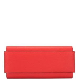 Hermès Hermes Rouge Grenat Evercolor Passant Long Wallet