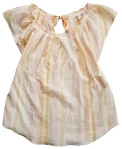 LC Lauren Conrad Pleated Cinched Bowtie Top Yellow
