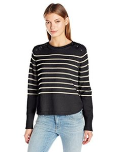 525 America Crop Striped New With Tags Sweater