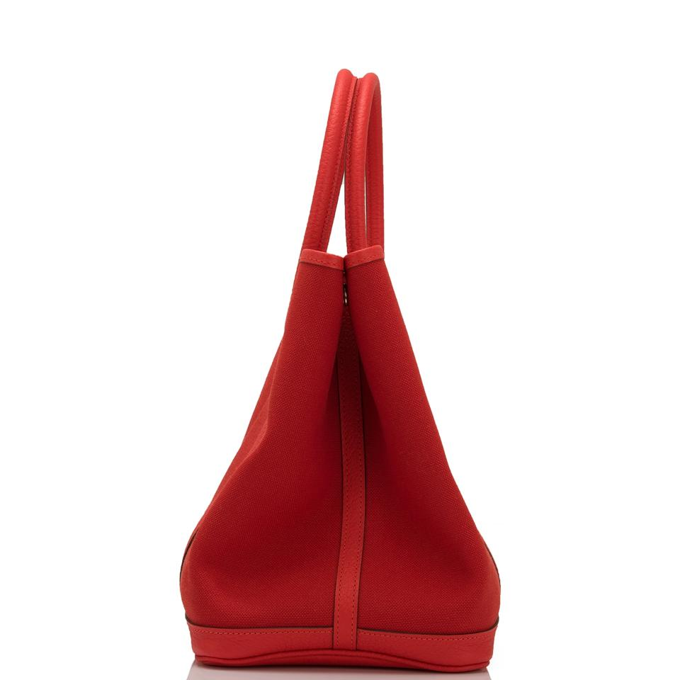 cf8838bf4499 Hermès Garden Party Rouge Tomate and Capucine 36cm Red Canvas ...