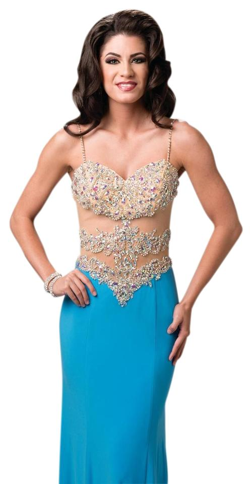 6454481ff4 Turquoise 15203 Envious Couture Prom By Long Formal Dress Size 00 ...