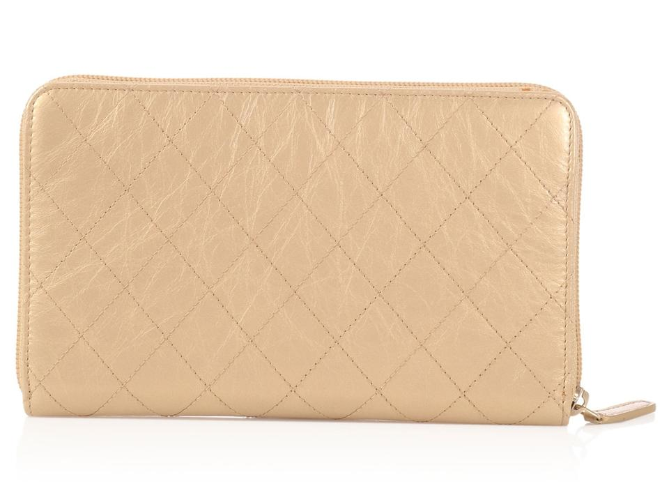 ac2429b2e7c1 Chanel Large Gold Quilted Leather Wallet Image 11. 123456789101112. 1 ∕ 12