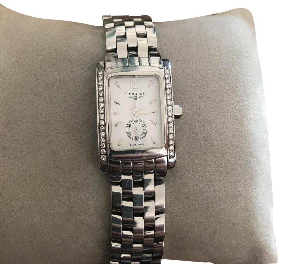check out 7ede9 3420a Longines Silver Dolce Vita with Diamonds Watch 41% off retail