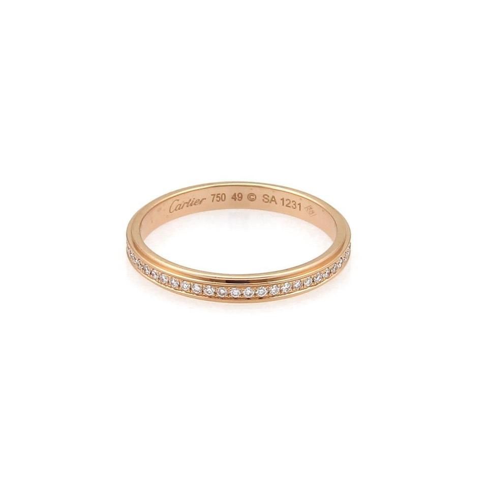 473f140b6f48 Cartier D`Amour Diamond 18k Rose Gold 2.5mm Eternity Ring Size 49-US ...