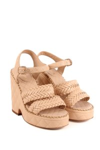 Chanel Tan Wedges