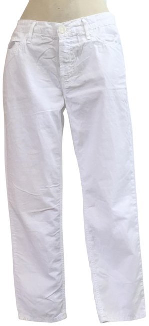 Item - White Light Wash Anthropologie Dropout Capri/Cropped Jeans Size 27 (4, S)