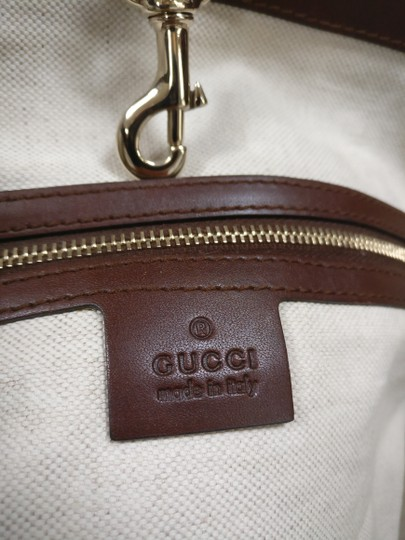 Gucci Gg Monogram Leather Tote in Brown