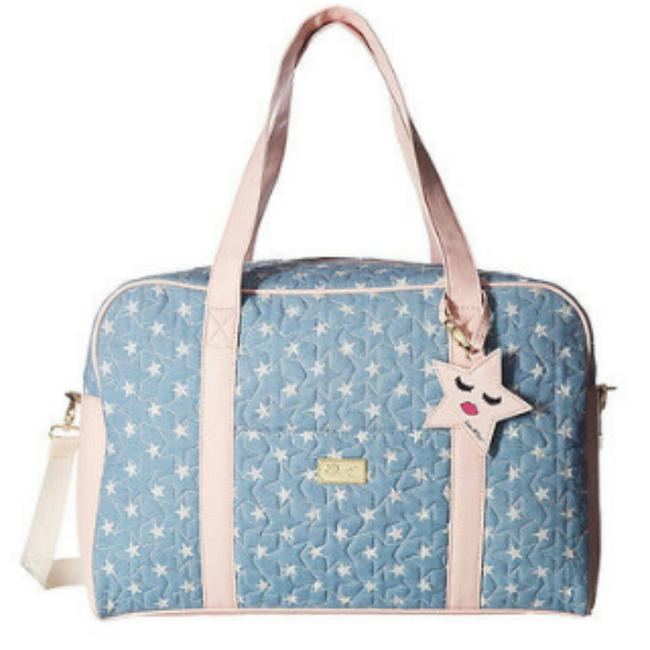 Item - Cruisn Stars Quilted Blue Blush Canvas Weekend/Travel Bag
