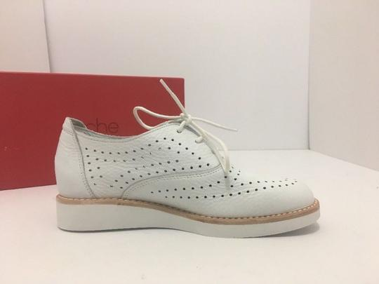 Arche Platform Wedge Oxfords White Leather - Blanc Flats