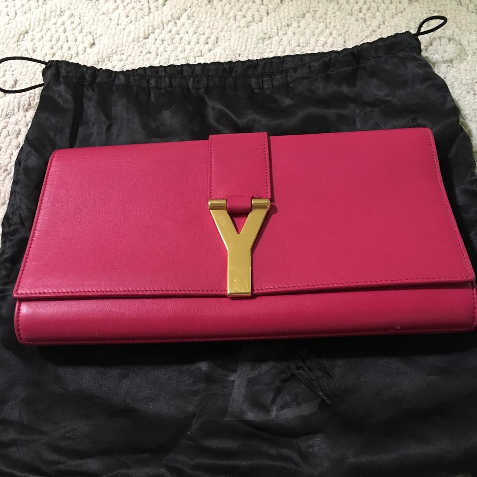 Saint Saint Clutch Laurent Laurent Pink Leather ZCqZarw