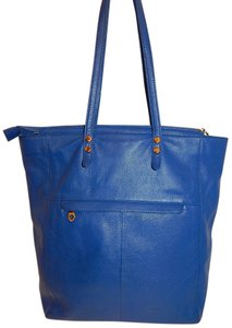 Christopher Kon Leather Tote in Royal Blue